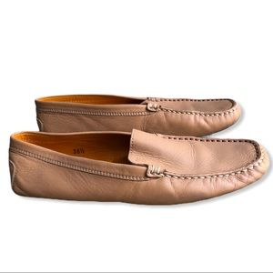 Tod's | Leather Split Sole Loafers Moccasins Nude